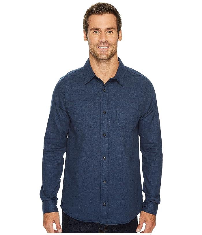 Toad&Co Flannagan Solid Long Sleeve Shirt (Deep Navy Heather) Men