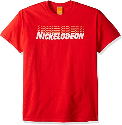 Nickelodeon Mens NKSN680 Retro Logo T-Shirt T-Shirt - red