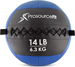 ProSource Soft Medicine Balls for Crossfit Wall Balls and Full Body Dynamic Exercises, Color-Coded Weights: 6, 10, 14, 20 lb.