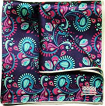 Silk Pocket Square by American Pocket Square Company   Purple Paisley, Pure Silk, Premium Quality for Men: