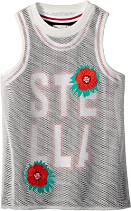 Stella McCartney Kids Corey Sleeveless Sporty Dress w/ Mesh Overlay (Toddler/Little Kids/Big Kids)