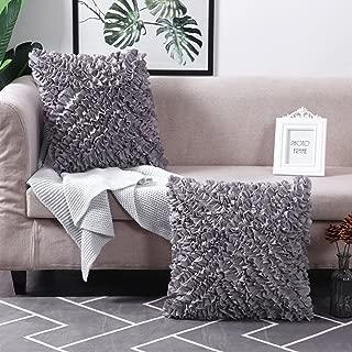 MoMA Decorative Throw Pillow Covers (Set of 2) - Pillow Cover Sham Cover - Dark Grey Throw Pillow cover - Decorative Sofa Throw Pillow Cover - Square Decorative Pillowcase - Grey - 18
