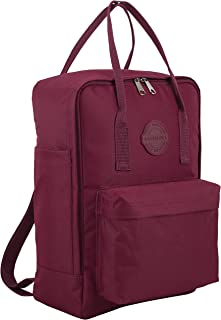 Double Handle Convertible Mid Size Backpack/Tote - Burgandy