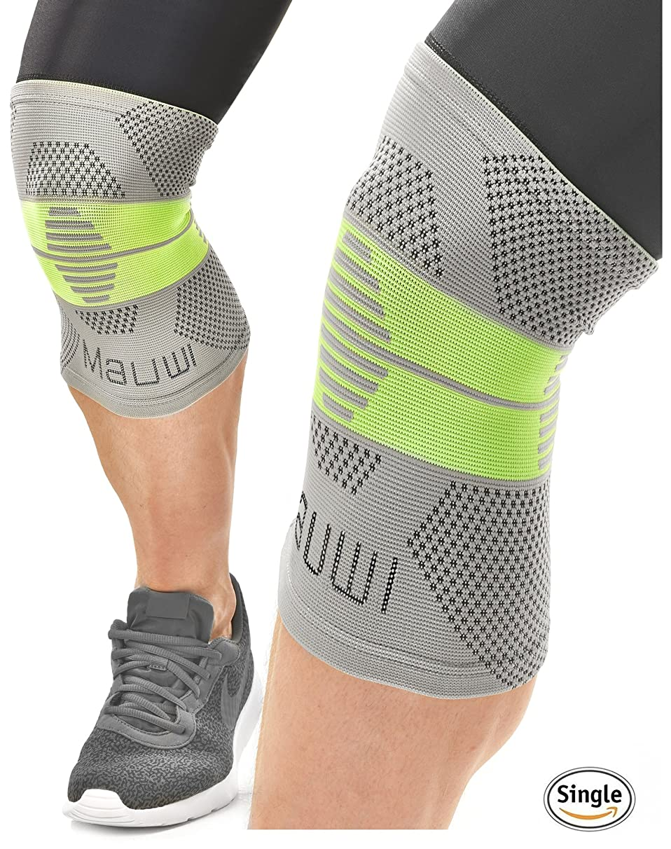 Mauwi Compression Knee Sleeve. ACL Knee Brace for Men & Women. Knee Support for Running, CrossFit, Basketball, Weightlifting, Sports. Patella Stabilizer for Arthritis, Meniscus Tear, Joint Pain Relief