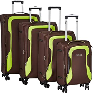 Giordano Luggage Trolley Bags Set 4 Pieces Coffee 850812
