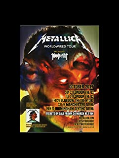metallica 2017 posters