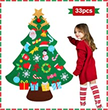 jumping meters DIY Felt Christmas Tree for Toddlers, 2020 for Kids Christmas Toys , Christmas Craft Kits for Kids , Hangin...