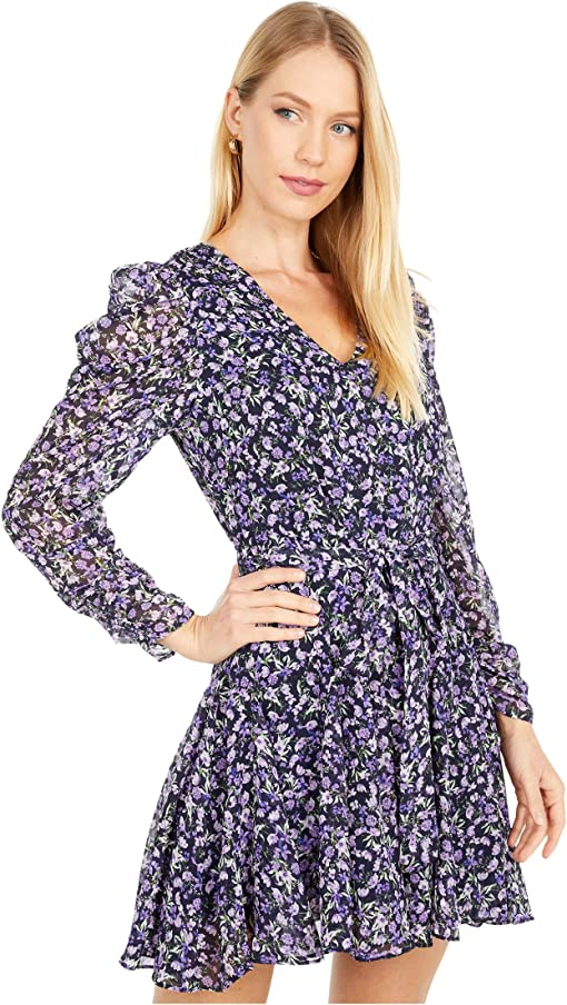Navy/Purple Multi Floral