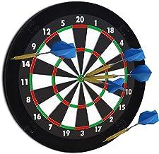 Relaxdays 10021529_46 Dart-opvangring R5, Catchring dartbord, 4-delig, Surround f. Dartboards, EVA, 45 cm, zwart