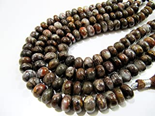 1 Strand of- Genuine Chocolate Moonstone shaded Beads / Plain Natural Beads / Smooth Rondelle Beads / 8 to 9 mm Size / Strand 8 inch long