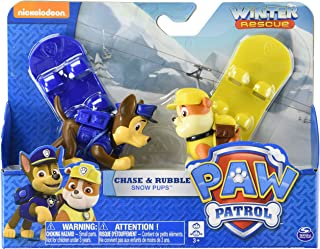 Paw Patrol Rescue Racer Paw Patrol Chase & Rubble Snow Pups Figure