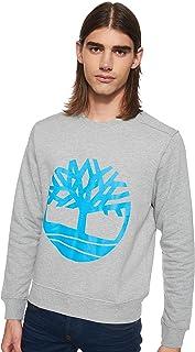 Timberland Men's Core Tree Logo Crew (Brushback) Sweatshirt