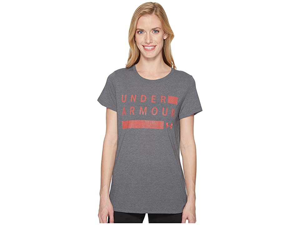Under Armour Threadborne Graphic Twist Short Sleeve Shirt (Graphite/Brilliance/Metallic Silver) Women