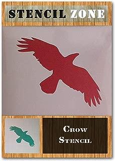 Crow Bird Flying Animal Mylar Airbrush Painting Wall Art Stencil (A4 Size Stencil - Small)