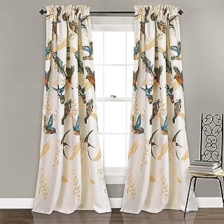Lush Decor Bird Breeze Room Darkening Window Curtain Panel Set, 84