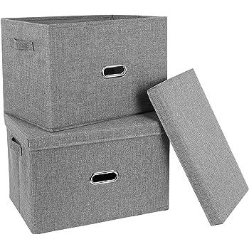 Neusu Jumbo Resistente Caja De Almacenaje Plegable De Color Negro ...