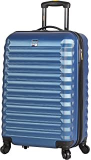 ABS Carry On Hard Case 20 inch Rolling Suitcase Set With Spinner Wheels (20in, Steel Blue)