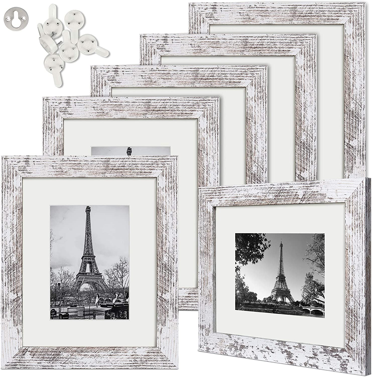 upsimples 8x10 Picture Frame Distressed Real Di with Low price Super sale period limited White Glass