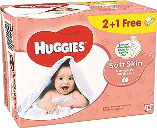 HUGGIES BABY WIPES SOFT SKIN, 2+1 Free, 56 x 3 (168 Wipes)
