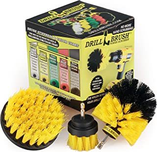 Drill Brush Power Scrubber by Useful Products Drill Brush Attachment – Bathroom..