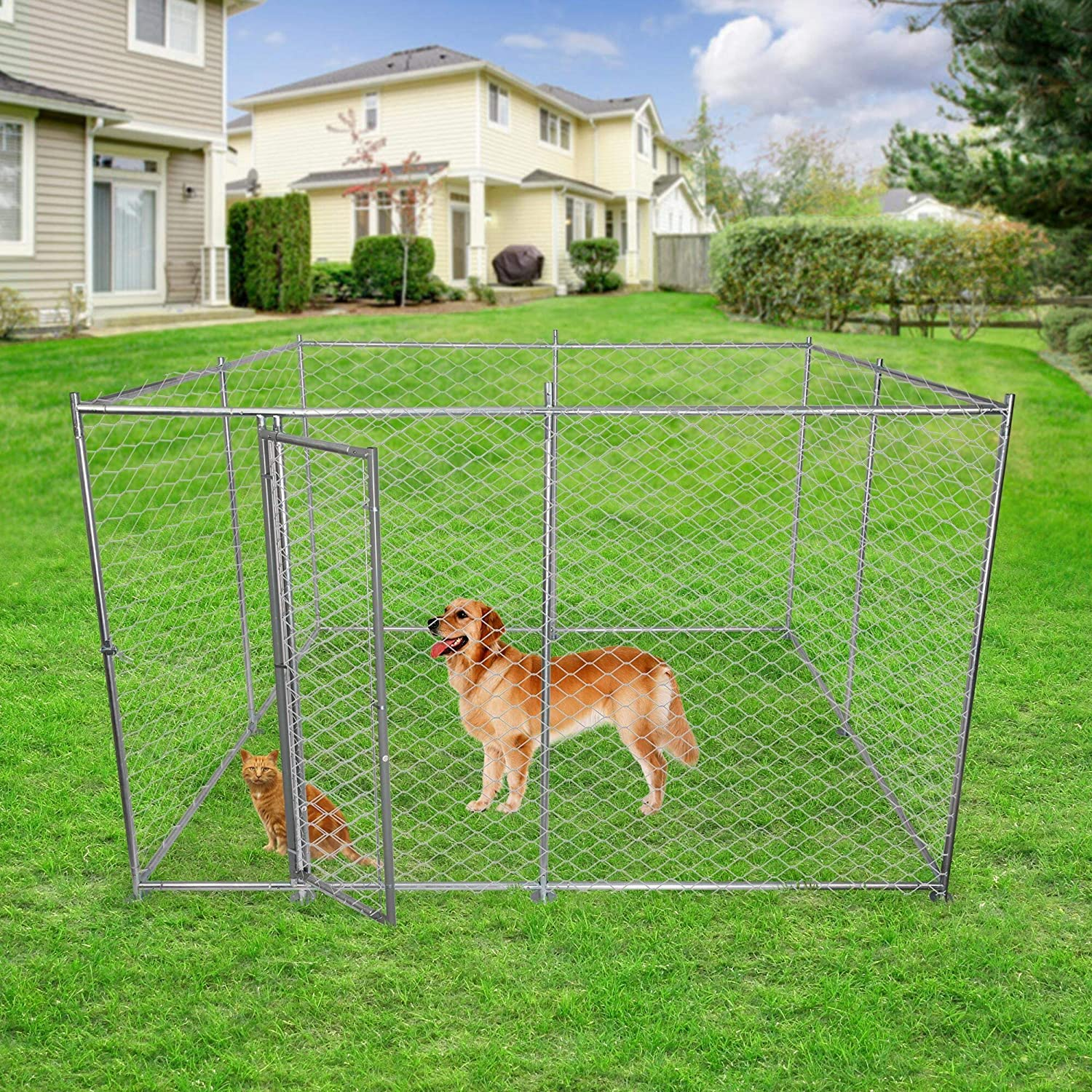 LUCKYERMORE Large Outdoor Ranking TOP15 Dog Kennel Playpen Pet for Ranking integrated 1st place