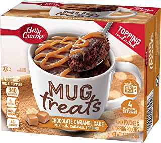 Betty Crocker Baking Mug Treats Chocolate Cake Mix with Caramel Topping, (Pack of 6)