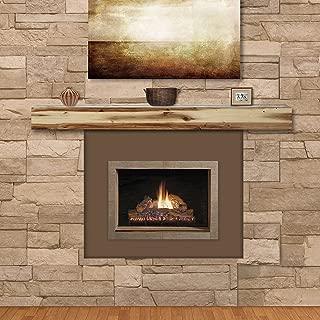 Pearl Mantels 492-72-00 Fireplace Mantel Shelf, 72-Inch, Natural