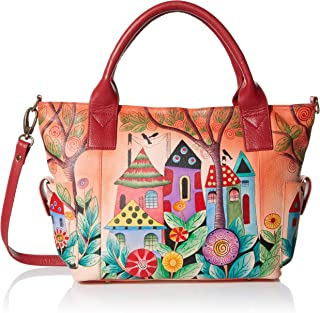 Anna by Anuschka Hand Painted Leather Women's Large Tote with Side Pocket