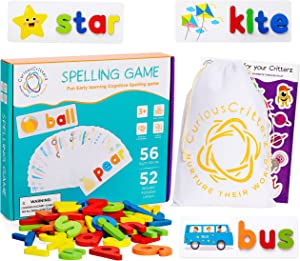 Curious Critterz See and Spell Learning Toy, Kids Learning Toys, Fun Spelling Games, Educational Toys for 4 Year Old, Learning Toys for 3 Year olds,Fun Learning Games for Preschool Learning at Home