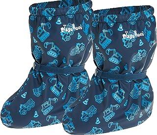 Playshoes Regenfüßlinge mit Fleece Baustelle unisex barn stövel