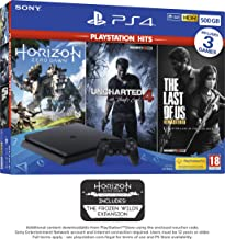 PS4 500GB with 3 PS Hits Game Bundle (PS4)