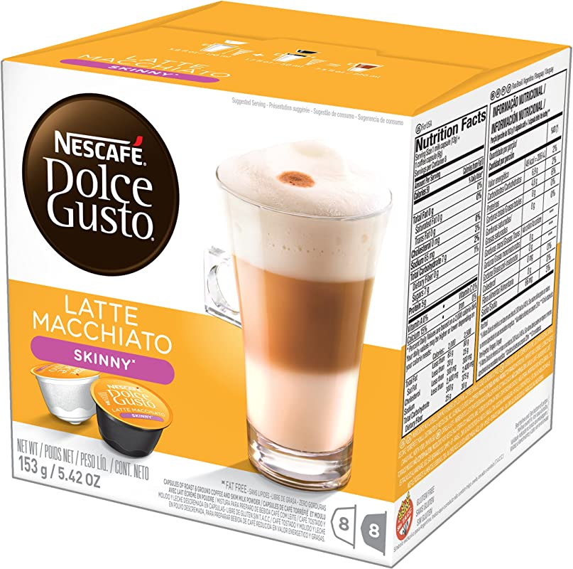 Nescafe Dolce Gusto Latte Macchiato Coffee Pods 8 Drinks 194 4g Case Of 3