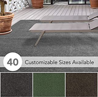iCustomRug Affordable Indoor/Outdoor Carpet with Marine Backing, Many Carpet Flooring for Patio, Porch, Deck, Boat, Basement or Garage 6' X 9' in Grey