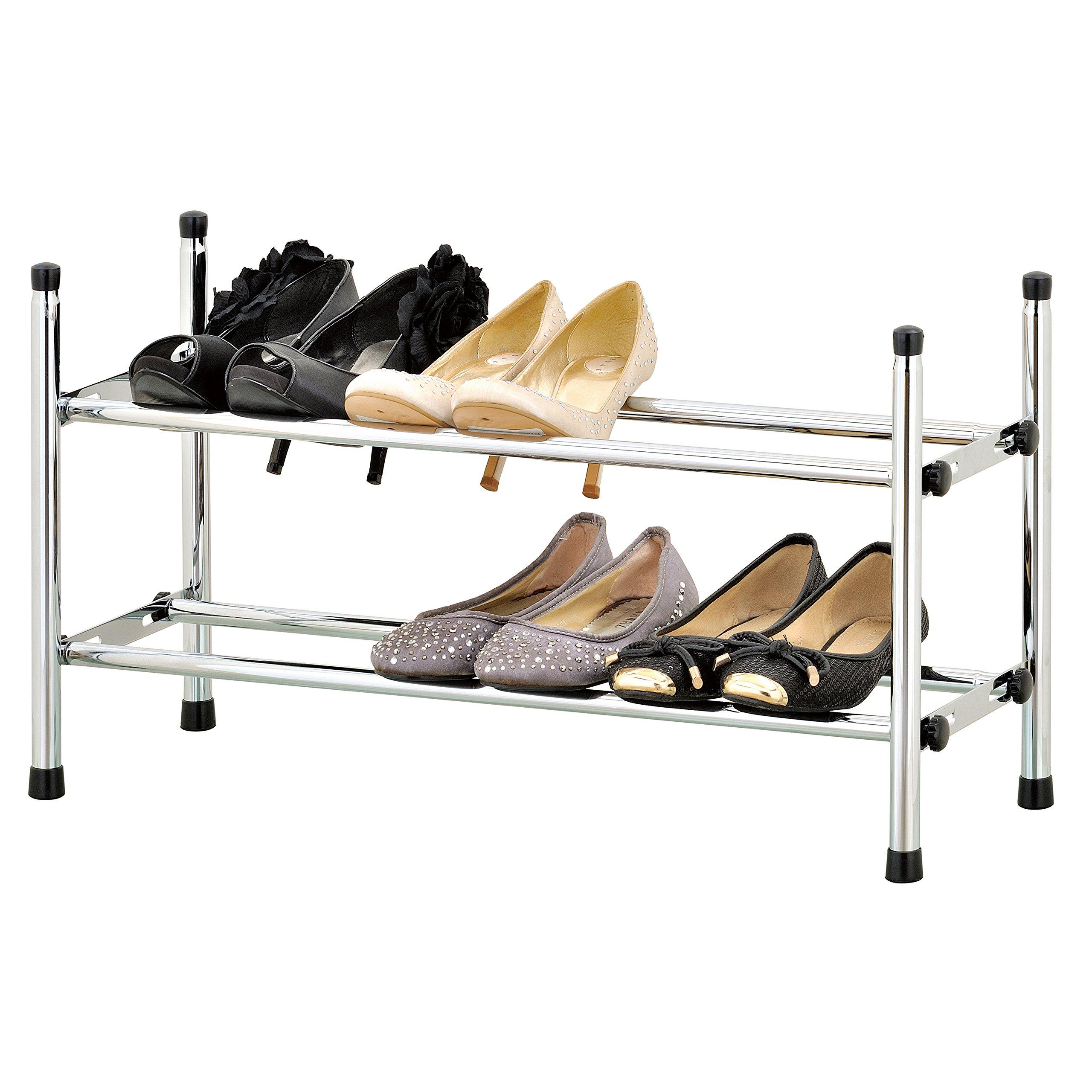 2-10 Tier Metal Shoes Rack Stand Storage Organizer Shelf Holder Stackable  US