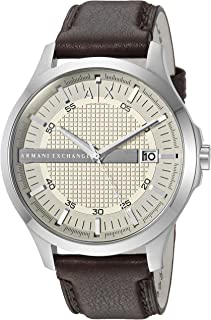 Armani Exchange Brown Leather & Stainless Steel Watch AX2100