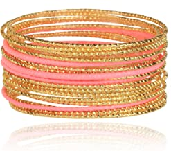 coral colored bangle bracelets