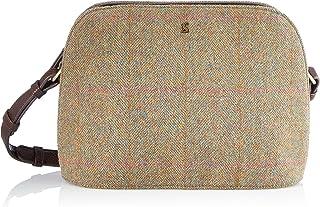 Joules Damen Adeline Cross Body Bag Schultertasche, Green Tweed, one