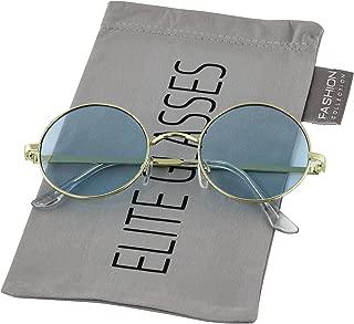 Round Circle Full Metal Frame Sunglasses for Women and Men Colorful Tinted Oceanic Lens John Lennon Glasses