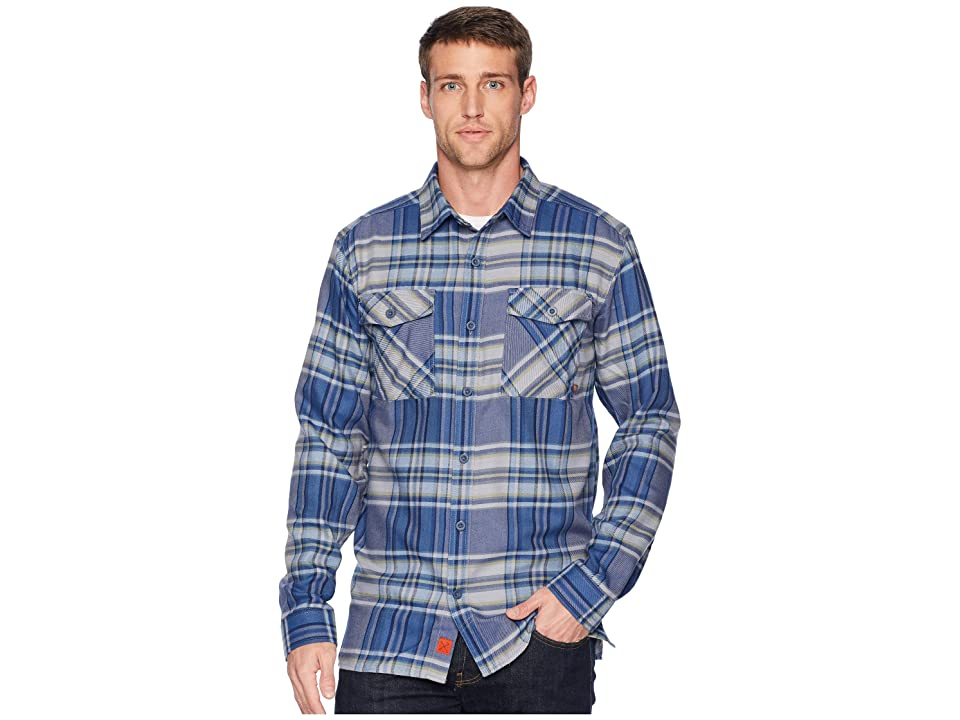 Mountain Hardwear Trekkintm Flannel Long Sleeve Shirt (Machine Blue) Men