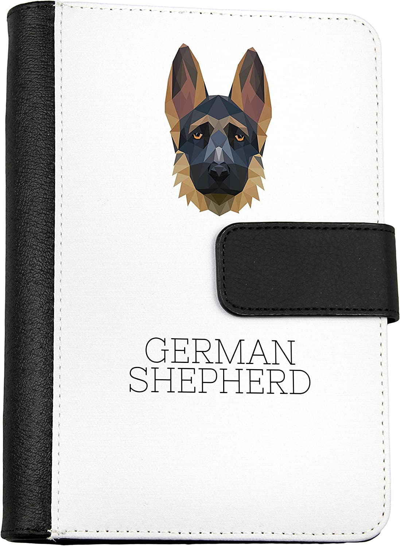 Deutscher Schäferhund, Notizbuch von Öko-Leder mit einem Hund, geometrisch B075PX1XDZ | Up-to-date-styling