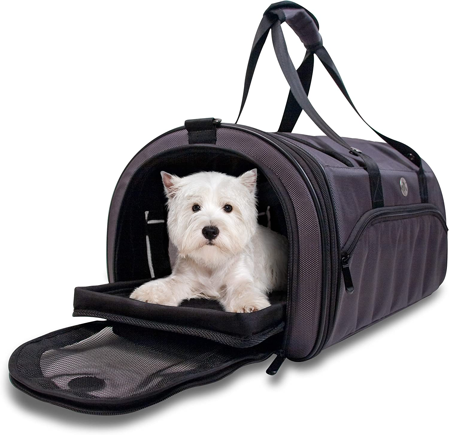 Kobi Pet Carrier - Soft Airline Charcoal Approved Sided Selling and selling Denver Mall Smal