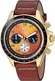 Vestal ZR2 - Reloj casual de cuarzo (acero inoxidable y piel), color café (modelo: ZR243L22.LBWH)