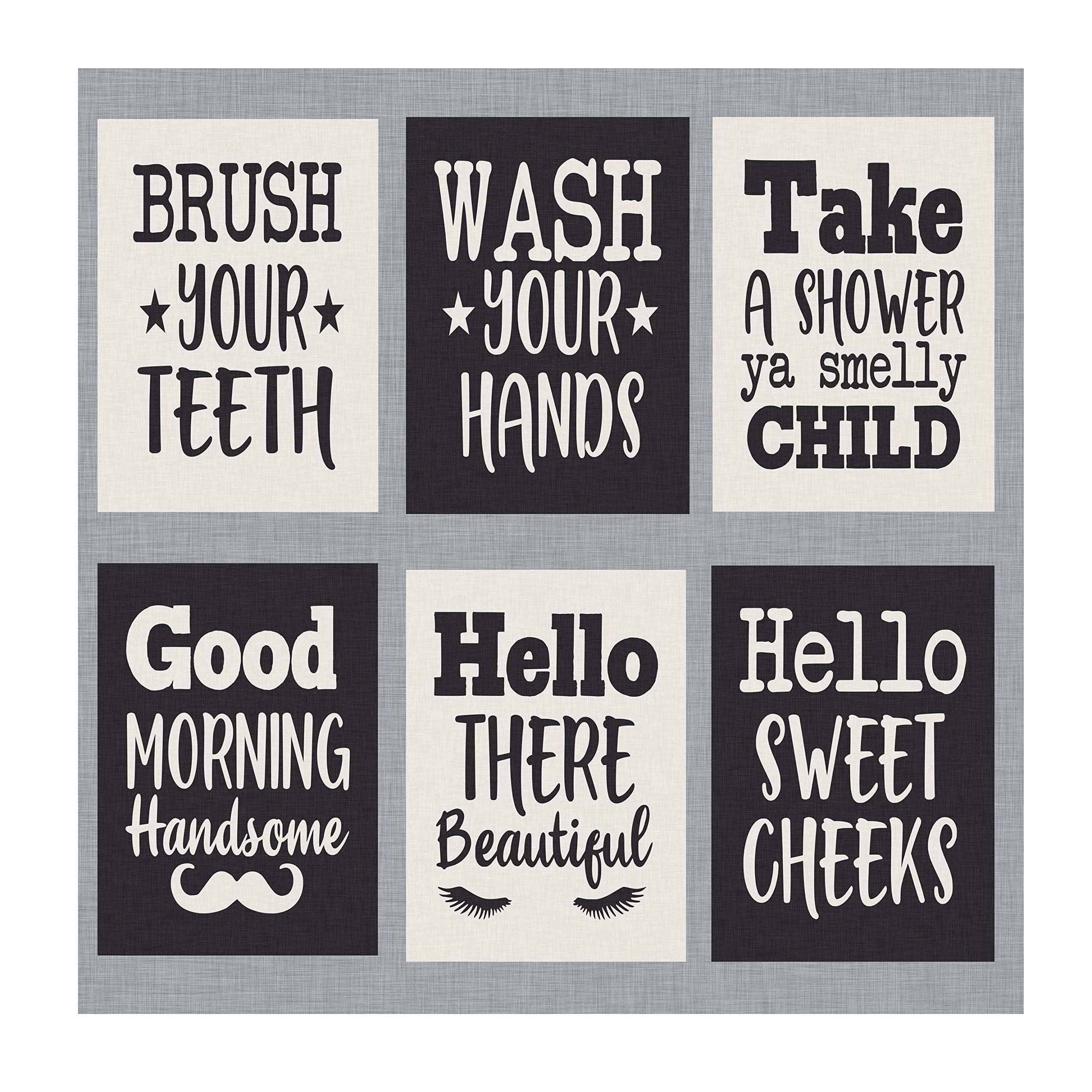 Amazon Com Simply Remarkable Bathroom Prints Set Of Six Decorate Your Bathroom With These 5 X 7 Prints Funny And Humorous Bathroom And Home Decor 5 X 7 Set 1 Posters