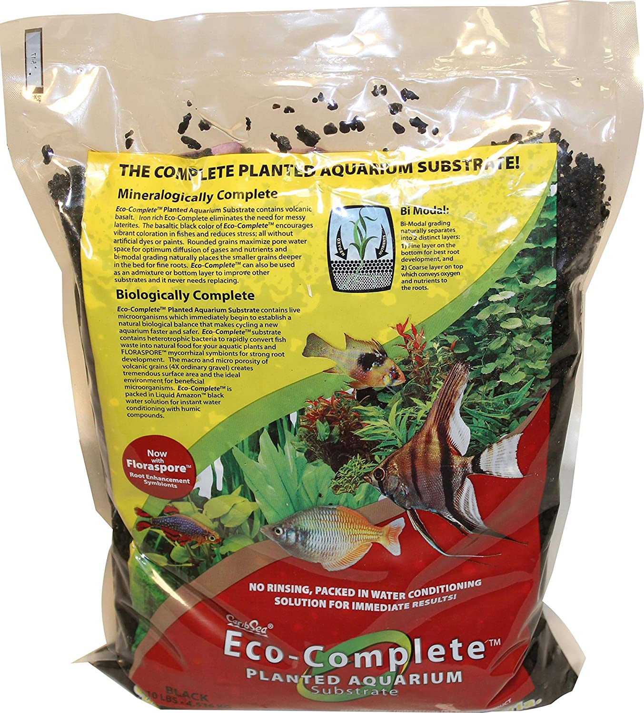 CaribSea EcoComplete Planted  Standard  Black  10 lb