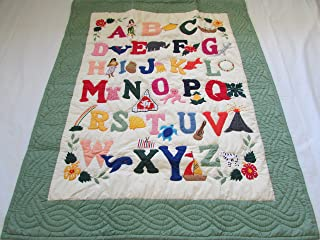 Hawaiian quilt ABC crib baby comforter blanket hand quilted/wall hanging
