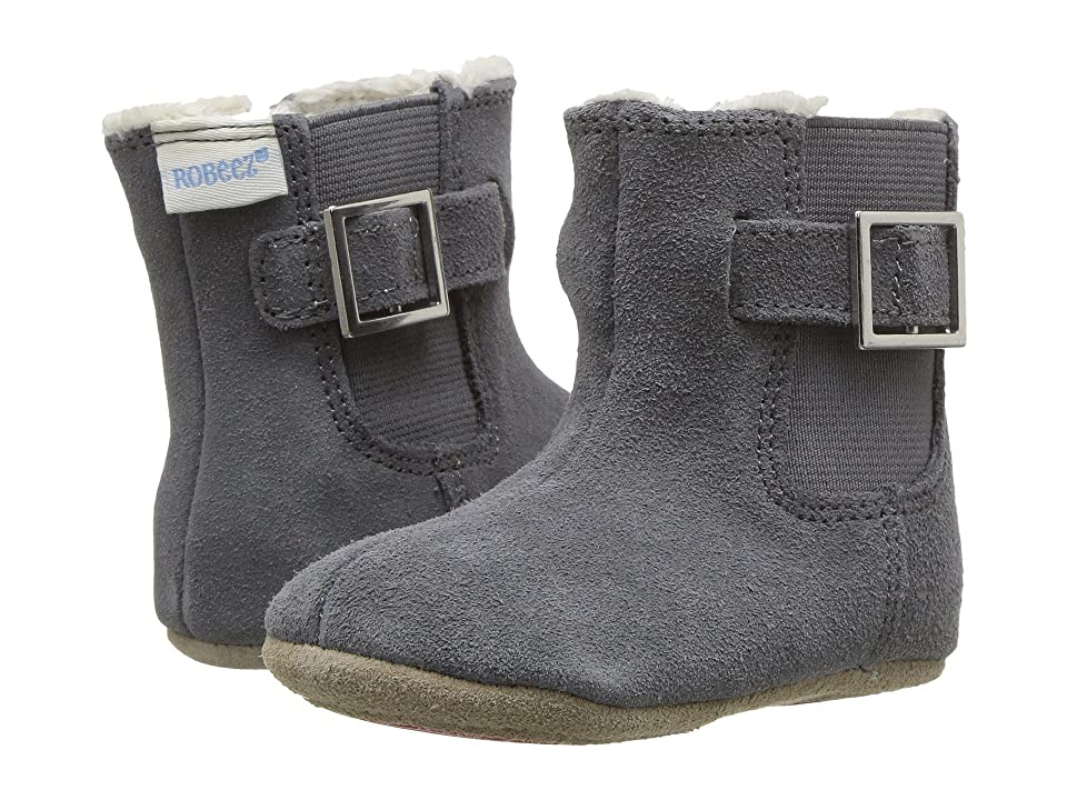 Robeez Grey Gwen Boot Mini Shoez (Infant/Toddler) (Grey) Girl