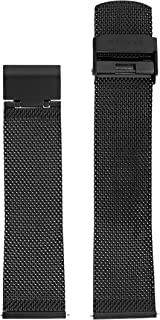 Skagen 22mm Stainless Steel Mesh Watch Strap, Color: Black (Model: SKB6068)