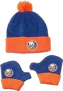 low priced 595d4 ad5d4 OTS NHL Unisex-Baby NHL Infant Pow Pow Knit Cap   Mittens Set