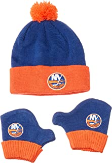 OTS NHL Infant Pow Pow Knit Cap & Mittens Set