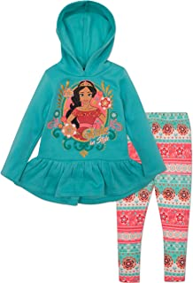Disney Elena of Avalor Toddler Girls' Fleece Hoodie and Leggings Set, Red